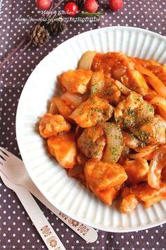 鶏肉と玉ねぎで簡単*クリーミーケチャップチキン by たっきーママ ...