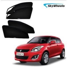 Skywheels Uv Magnetic Car Sun Shade For Old Maruti-Suzuki-Swift With Zipper Set Of 4