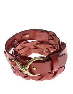 (JPB063-RED) Mens Casual Hook Buckle Braided Fashion Leather Belt From W28 to W32