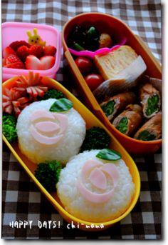 Lunch of rice balls Baradeko