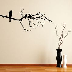 Awesome Birds On A Branch Animal Wall Sticker