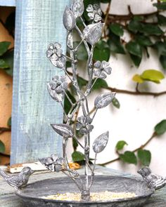 Metal work Bird feeder has hook so that it can be hung in a tree Decorative Accessories, Decorative Items, Bird Feeders, Metal Working, Canning, Plants, Home Decor, Decoration Home, Metalworking