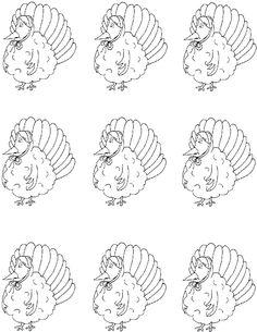 turkey wearing bonnet template 3.jpg (1020×1320)