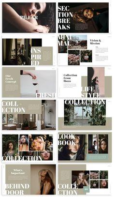 Ppt Design, Book Design Layout, Simple Powerpoint Templates, Presentation Templates, Sunset Color Palette, Brochure Layout, Communication Design, Flyer, Photography Portfolio