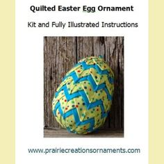 My new Easter Egg Ornament design is now available in kit with the pattern included to make your own! This ornament is made with a speckled lime green fabric and accented with bright turquoise.