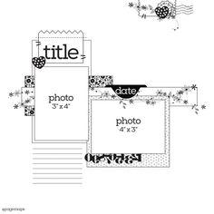 PageMaps Sketch for Summer 2018 issue of Scrapbook & Cards Today Scrapbook Layout Sketches, Card Sketches, Scrapbooking Layouts, Scrapbook Cards, Digital Scrapbooking, Scrapbook Templates, Scrapbook Albums, Bucket List Life, Bucket Lists