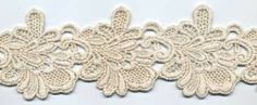 Dentelle mariage Guipure 65 mm Marie, Floral, Flowers, Jewelry, Sewing, Lace, Color, Jewlery, Jewerly