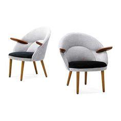 Eric Ostermann & Egon Olsen, lounge chairs, Denmark, 1950s