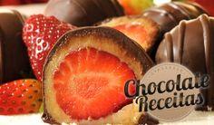Chocolate Receitas: Bombom de Morango