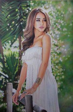 Danielle Lo The model portrait by Hongmin on DeviantArt Colored Pencil Portrait, Color Pencil Art, Bird Pencil Drawing, Pencil Drawings, I Love You Drawings, Beautiful Drawings, Realistic Drawings, Colorful Drawings, Amazing Paintings