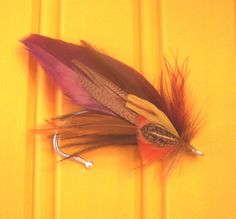 Fishing Wedding boutonniere   but want it purple & Green themarriedapp.com hearted <3