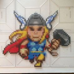 Mini Thor hama perler beads by tfowler81 | MARVEL COMICS | Pinterest