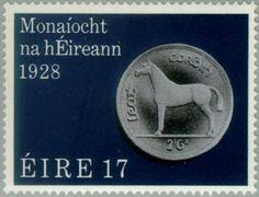Stamp: Coins (Ireland) (50th Anniv. of Irish Currency) Mi:IE 387,Sn:IE 439,Sg:IE 432,AFA:IE 394