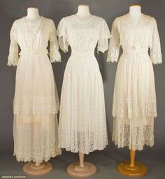 North America's auction house for Couture & Vintage Fashion. Augusta Auctions accepts consignments of historic clothing and textiles from museums, estates and individuals. Edwardian Gowns, Edwardian Fashion, Vintage Fashion, Medieval Fashion, 1918 Fashion, Fashion History, Women's Fashion, Vintage Outfits, Vintage Dresses
