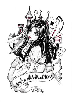 drawings One of my inktobers 2016 collection, original drawing inspired by 'Alice Madness Returns' Limited Edition Art Prints -Archival inks printed on Fine Art Matte Paper -Hand signed and numbered by artist -Small Alice Liddell, Dark Alice In Wonderland, Adventures In Wonderland, Alice Madness Returns, Dark Disney, Another Anime, Were All Mad Here, Arte Horror, Gothic Art