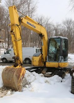 2005 comets PC78US excavator with 5419.9 hrs (at time of photography) believed to be approx. 18k lbs, with a 7 foot blade and joystick and pedal operation, track drive. Serial number 5660. Bill of sale only.