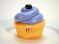 Cupcake de blueberry com cream cheese de limão (cupcake wars)