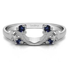 Shop for White Gold Bypass Style Solitaire Engagement Ring Wrap With White Sapphire Cts. Get free delivery at Overstock - Your Online Jewelry Destination! Get in rewards with Club O! Ring Enhancer, Vintage Engagement Rings, Solitaire Engagement, Delicate Rings, White Sapphire, Silver Diamonds, White Gold, Things To Sell, Wedding Jewelry