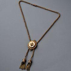Antique Victorian Gold Tassel Necklace