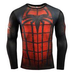 New Brand Clothing Fitness Compression Shirt Men Superman Bodybuilding Long Sleeve 3D T Shirt Crossfit Super Tops Shirts