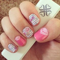 Floral Jamberry Nails. http://lindsey349.jamberrynails.net/