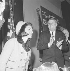 President John F. Kennedy applauds as his wife is introduced at a Chamber of Commerce breakfast, November Later in the day, an assassin firing into the President's open car in Dallas hit the President and the Governor of Texas, John Connally. John Kennedy, Ted Kennedy, Caroline Kennedy, John Connally, Kennedy Assassination, John Fitzgerald, Chamber Of Commerce, Jfk, American History