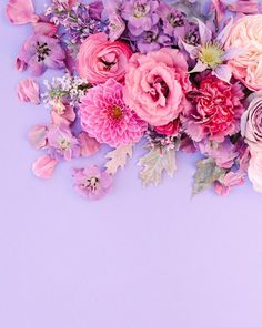 Pink and purple unicorn floral explosion by Purple Flower Background, Pink And Purple Flowers, Flower Background Wallpaper, Flower Backgrounds, Pink And Purple Wallpaper, Spring Wallpaper, Cool Wallpapers For Phones, Best Iphone Wallpapers, Purple Unicorn