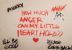 How much anger can my little heart hold?