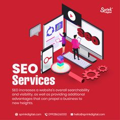 Our SEO services assist you in accomplishing your company goals by attracting relevant visitors to your website.