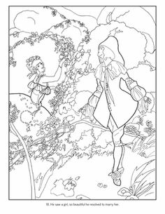 Umberto Brunelleschi: Stories from Once Upon a Time Coloring Book