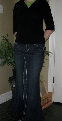 This Is A Great Modest Everyday Jean Skirt It Gives Just The Right Amount