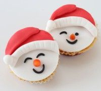 Christmas Cake Decorations, Christmas Sweets, Christmas Baking, Christmas Cookies, Baking Cupcakes, Yummy Cupcakes, Cupcake Cookies, Baking Desserts, Snowman Cupcakes