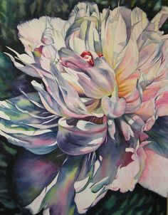Theresa Miller Watercolors: Chateau de Choully Peony