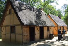 Jamestown Settlement: English Homes. Much nicer than the homes in Plymouth Plantation.