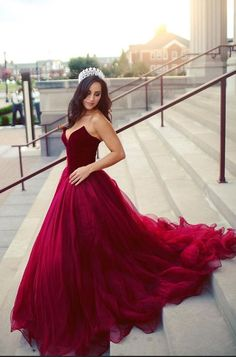 Sweetheart Velvet And Tulle Ball Gown Burgundy Sweet 16 Dresses,Real Photo Quinceneara Dresses,Gorgeous Engagement Dresses Verlobung 💍 💍 Cheap Prom Dresses Uk, Red Wedding Dresses, Gala Dresses, Quinceanera Dresses, Long Dresses, Party Dresses, Unusual Wedding Dresses, Homecoming Dresses, Bridesmaid Dresses