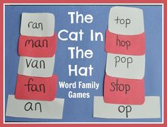 Cat in the Hat Word Family games! {The Pleasantest Thing} #seuss #wordfamilies