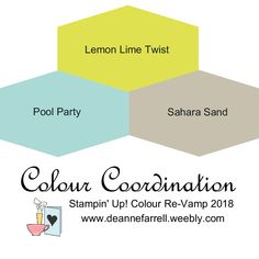 Lemon Lime Twist Colour Combo - Colour Inspiration Stampin' Up! Colour Re-Vamp 2018 #stampinupcolor #dlbcraft #stampinupdemonstrator