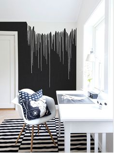 Wandbild Colour Rain von Rebel Walls Wandbild Colour Rain von Rebel Walls Meine Wand The post Wandbild Colour Rain von Rebel Walls appeared first on Wandgestaltung ideen. Bedroom Wall Designs, Bedroom Wall Colors, Room Colors, Bedroom Decor, Hallway Designs, Black Walls, Paint Designs, Wall Murals, Home Decor
