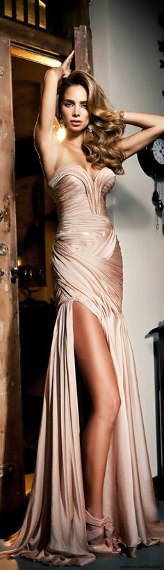 Beautiful glamour evening dress, gown dress