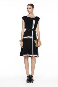 BCBG Max Azria pleated runway dress Size Large 150$