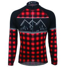 FC Calssic Lumberjack Long sleeve Cycling Jersey Red Black  6f256042f