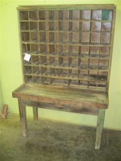 Oak Post Office sorting table w/208 mail cubbies {Pinning this ...