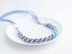 """Bead Crochet Necklace """"Coralreef"""" for women summer jewelry crochet jewerlycoralreef on Etsy, $59.92"""