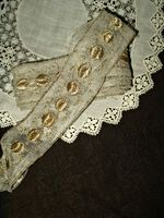 1920's Vintage Tulle Net Gold Metallic Embroidery Trim Embellishment  $22.50 http://www.the-gatherings-antique-vintage.net