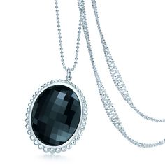 New from the Ziegfeld Collection: A black onyx pendant in sterling silver. #TiffanyPinterest