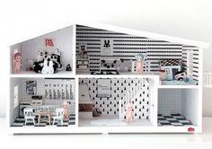 b & w dolls house