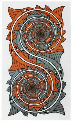 great collection of escher images. Tessellations but so much more. Mc Escher, Escher Art, Drawn Art, Plastic Art, Op Art, Optical Illusions, Art Forms, Painting & Drawing, Printmaking