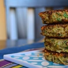 Basil Quinoa Cakes --> this is the recipe I tried!  I still made it my own, I never really follow to a 'T'. So yummy!