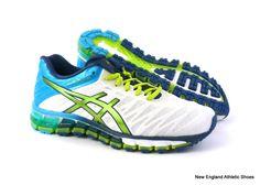 huge selection of 76573 d3835 Asics womens Gel-Quantum 180 running shoes sneakers - White   Lime    Turquoise  ASICS  RunningCrossTraining. Skor Sneakers