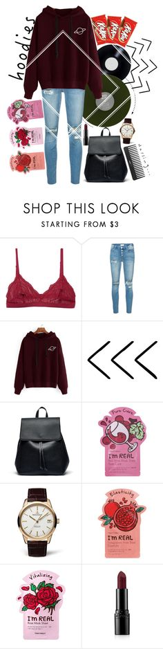 """""""Chill Time"""" by raynebowhazza ❤ liked on Polyvore featuring Cosabella, Mother, Sole Society, TONYMOLY, Jaeger-LeCoultre, Avon, Sephora Collection, contest, Hoodies and contestentry"""
